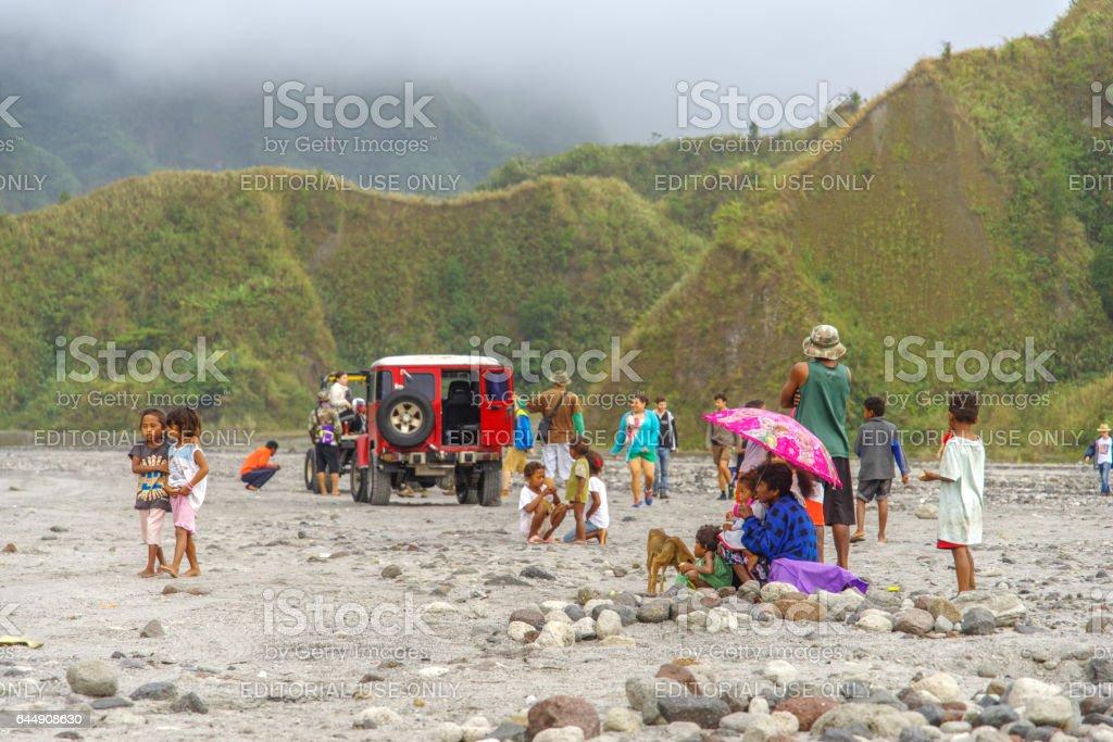 Feb 19,2017 Four-wheel drive tour at Mountain Pinatubo stock photo