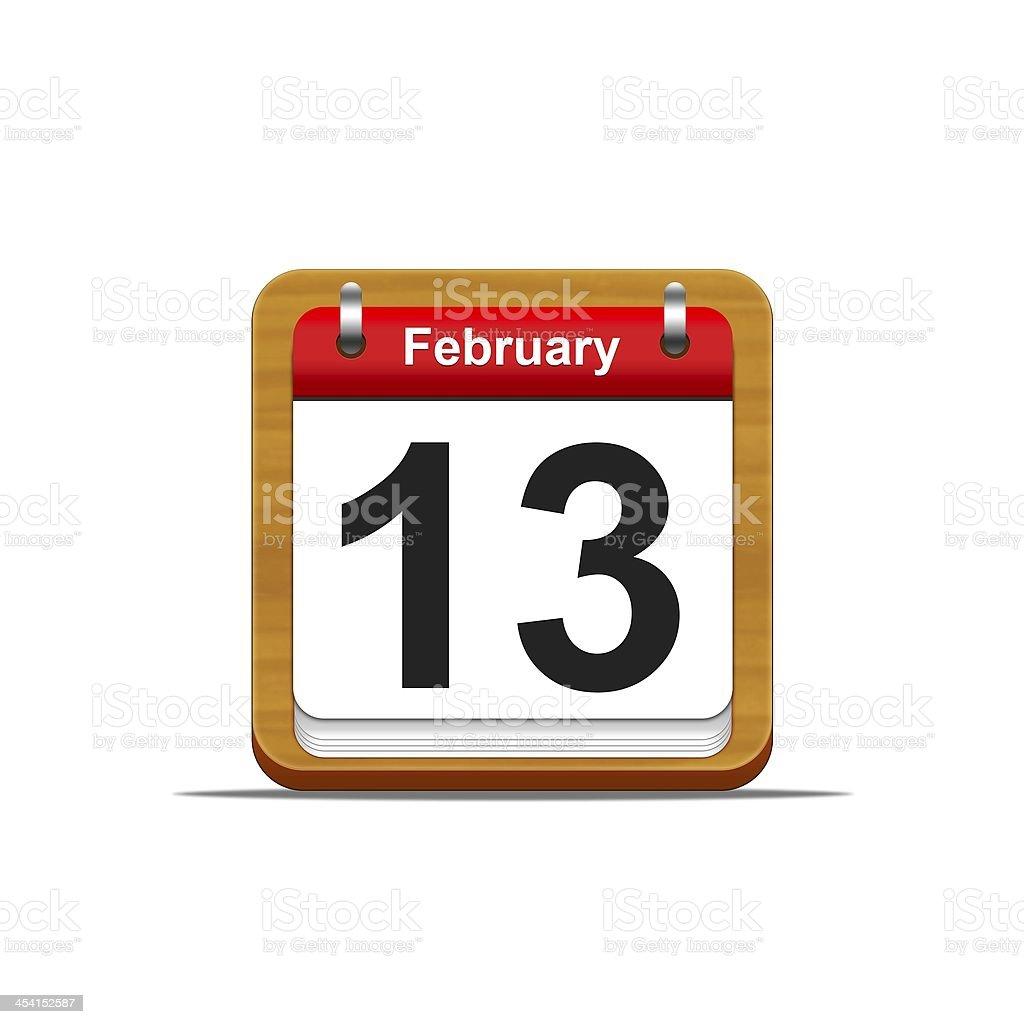 February 13. royalty-free stock photo