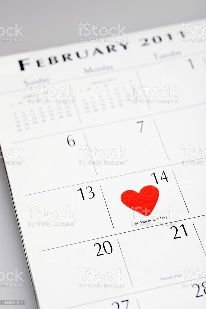 February 14 royalty-free stock photo