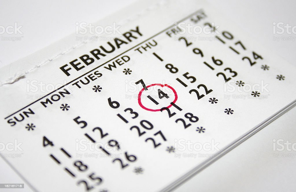 February 14th Valentines Day stock photo