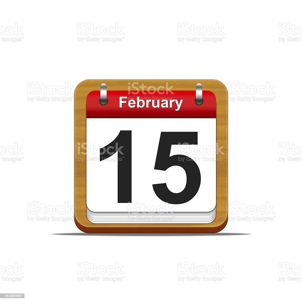 February 15. stock photo