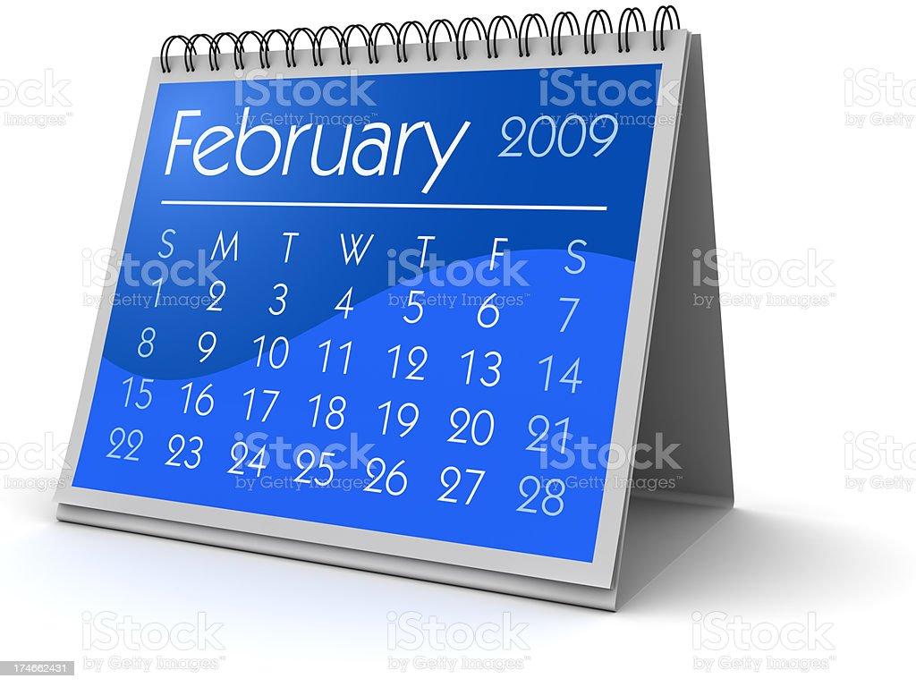 February 2009 royalty-free stock photo