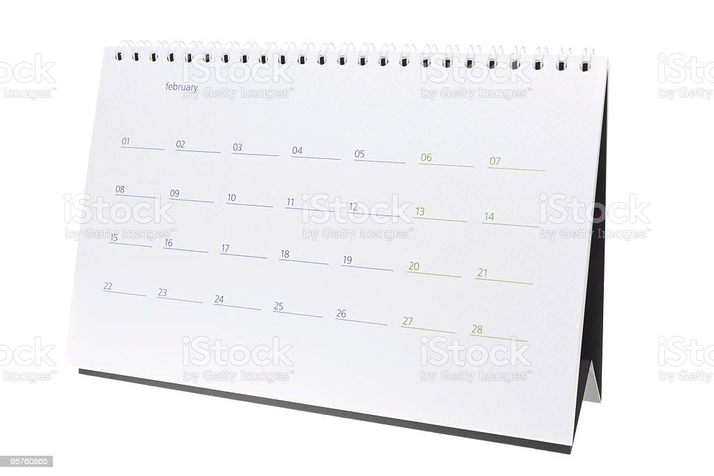 February 2010 Calendar Page stock photo