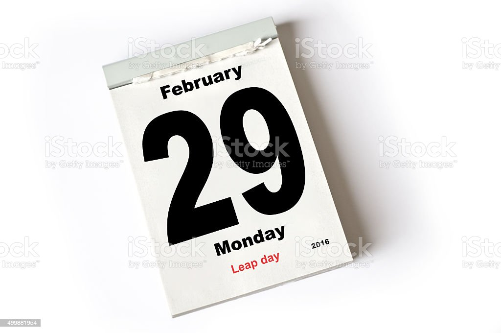 29. February 2016 Leap Day stock photo