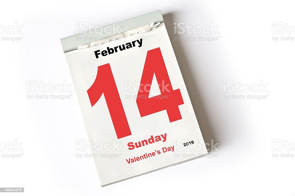 14. February 2016 Valentine's Day stock photo