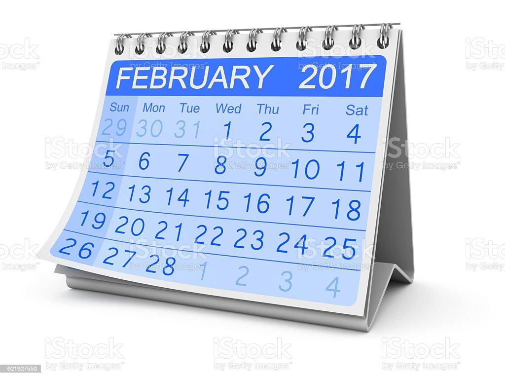 February 2017 stock photo