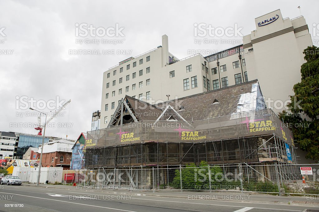 February 22, 2016: Christchurch five years after the earthquake stock photo