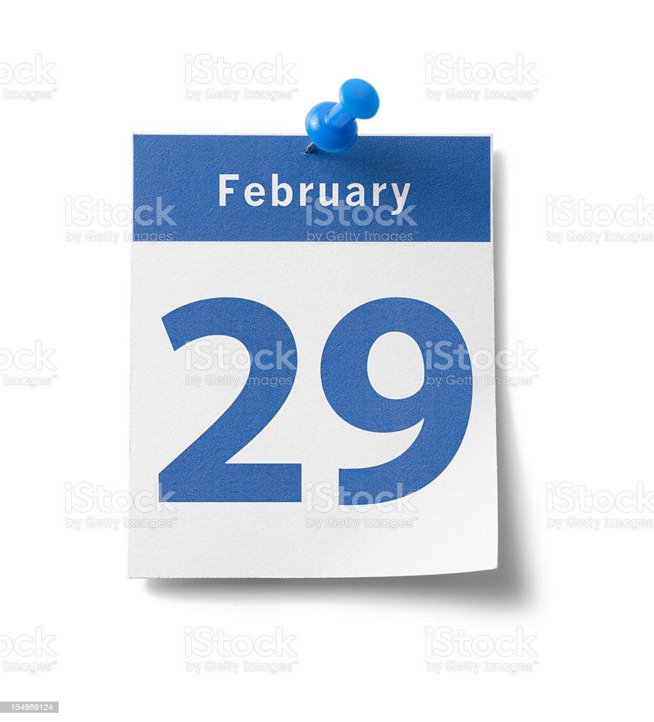 February 29th Calendar royalty-free stock photo