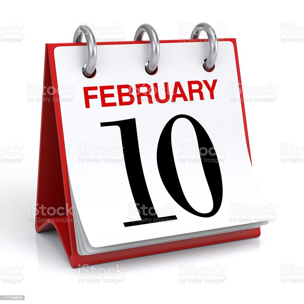 February Calendar royalty-free stock photo