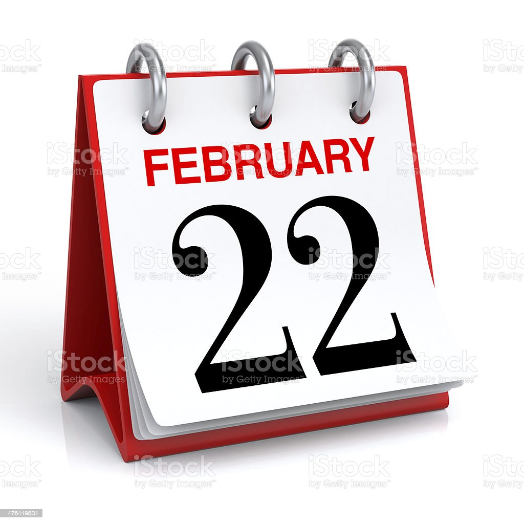 February Calendar royalty-free stock photo