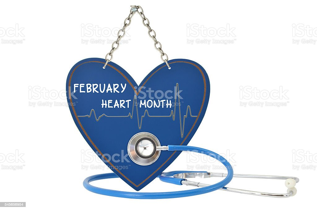 February Heart Month stock photo