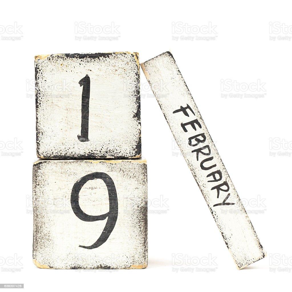 February Nineteen stock photo