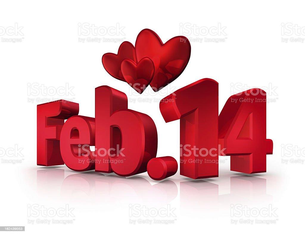 Febuary 14 is Valentines Day (XXXL) royalty-free stock photo