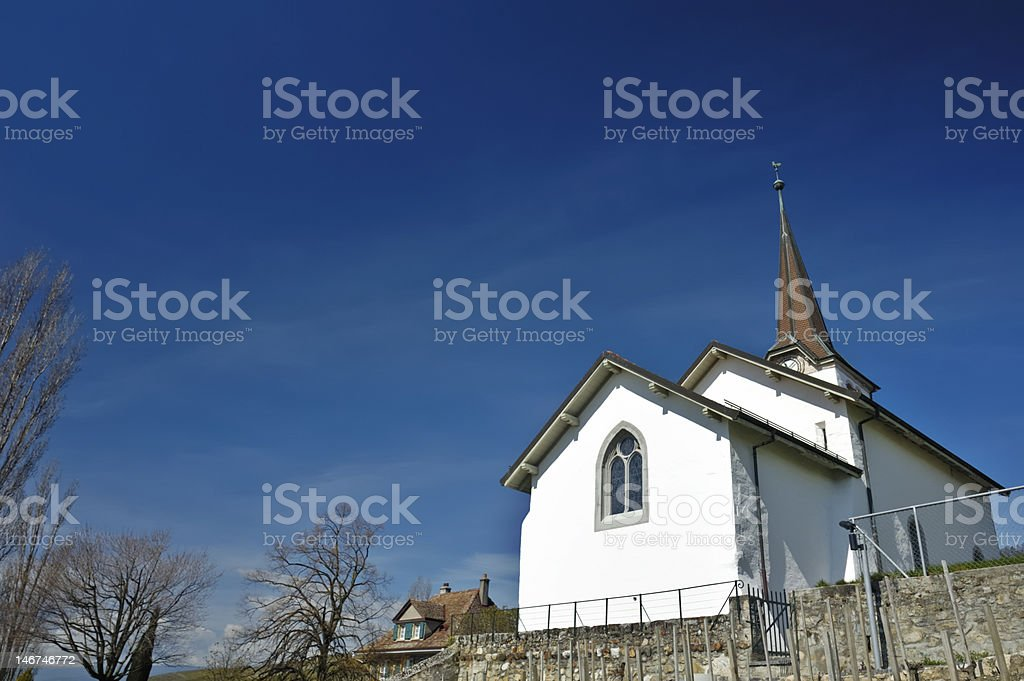 Fechy church stock photo