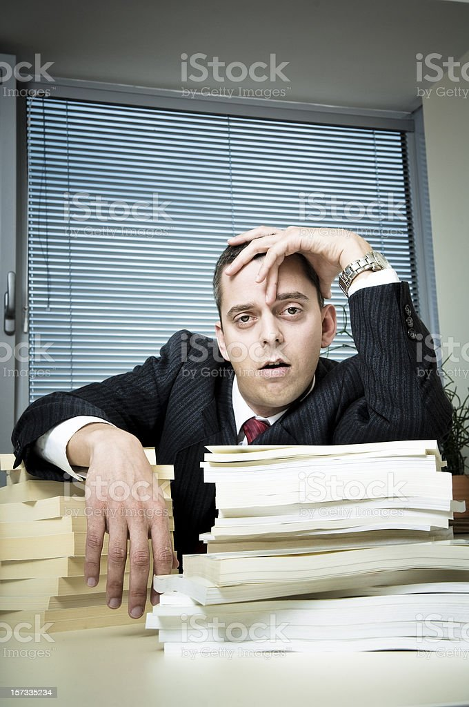 Fed up Office Worker stock photo