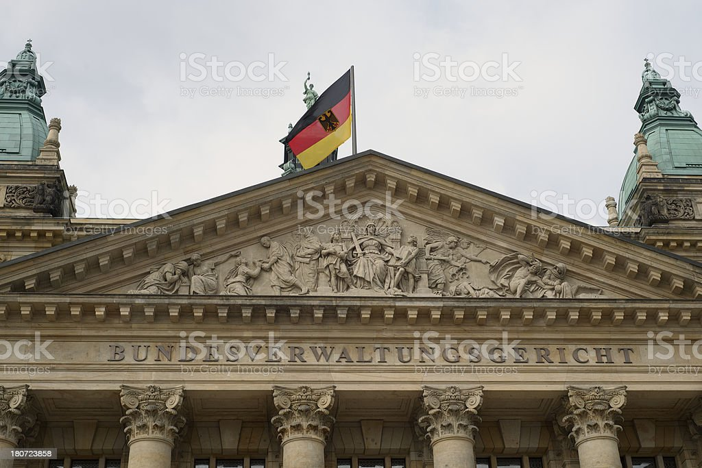 Federal Administrative Court, Leipzig, Germany royalty-free stock photo