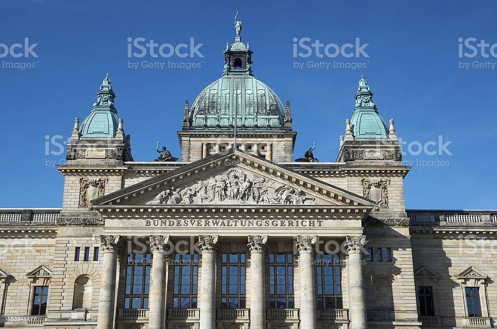 Federal Administrative Law Court House, Leipzig stock photo