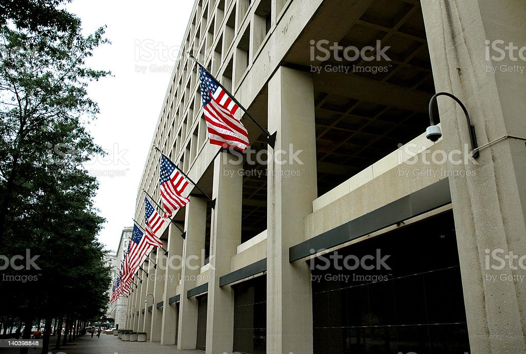 Federal Bureau of Investigation Building stock photo
