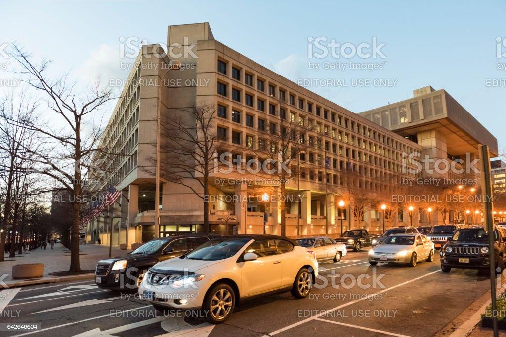 FBI, Federal Bureau of Investigation Headquarters, on Pennsylvania avenue stock photo