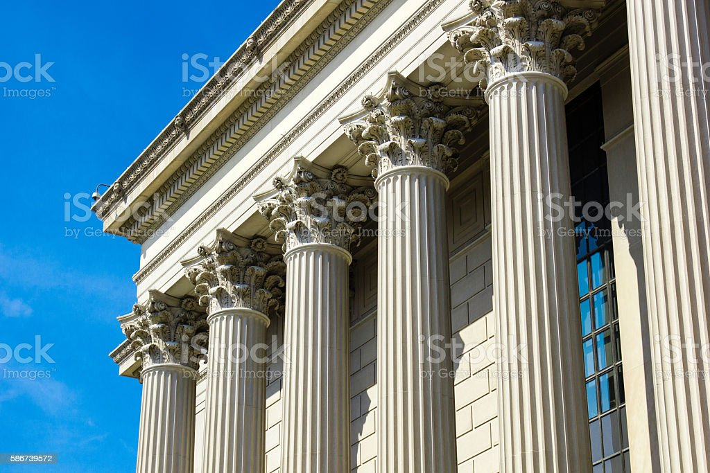 Federal Court Building in Washington, DC stock photo