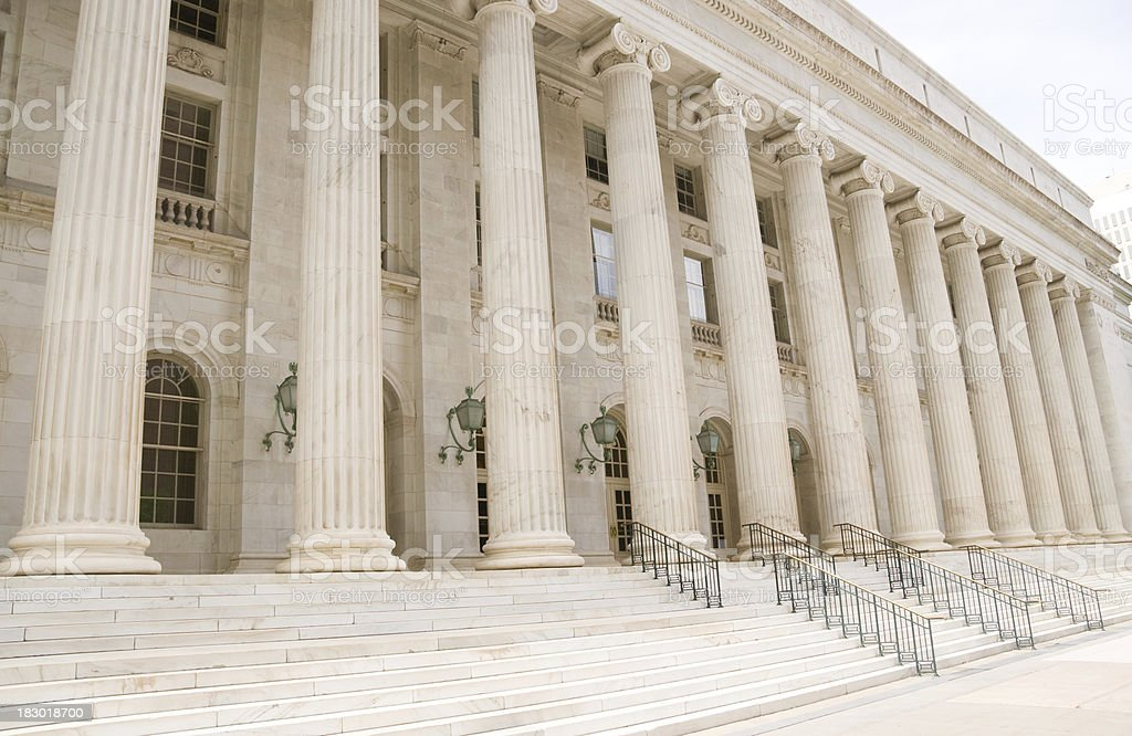 Federal court building stock photo