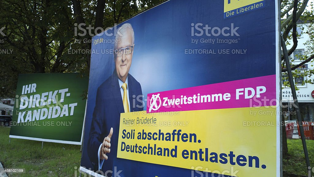 Federal election campagin Germany 2013 - FDP stock photo