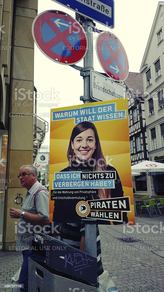 Federal election campagin Germany 2013 - Piraten stock photo