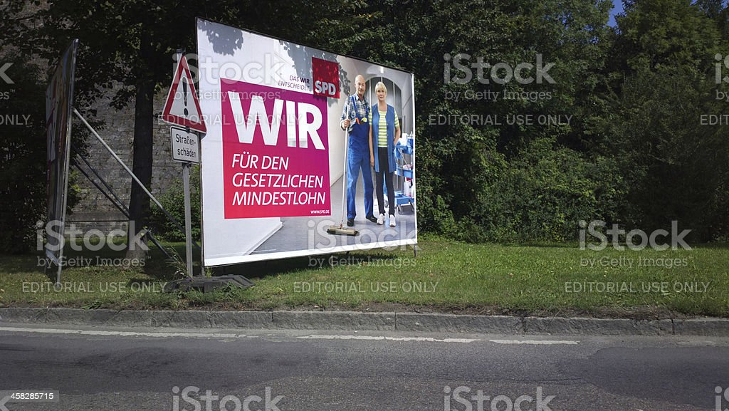 Federal election campagin Germany 2013 - SPD stock photo