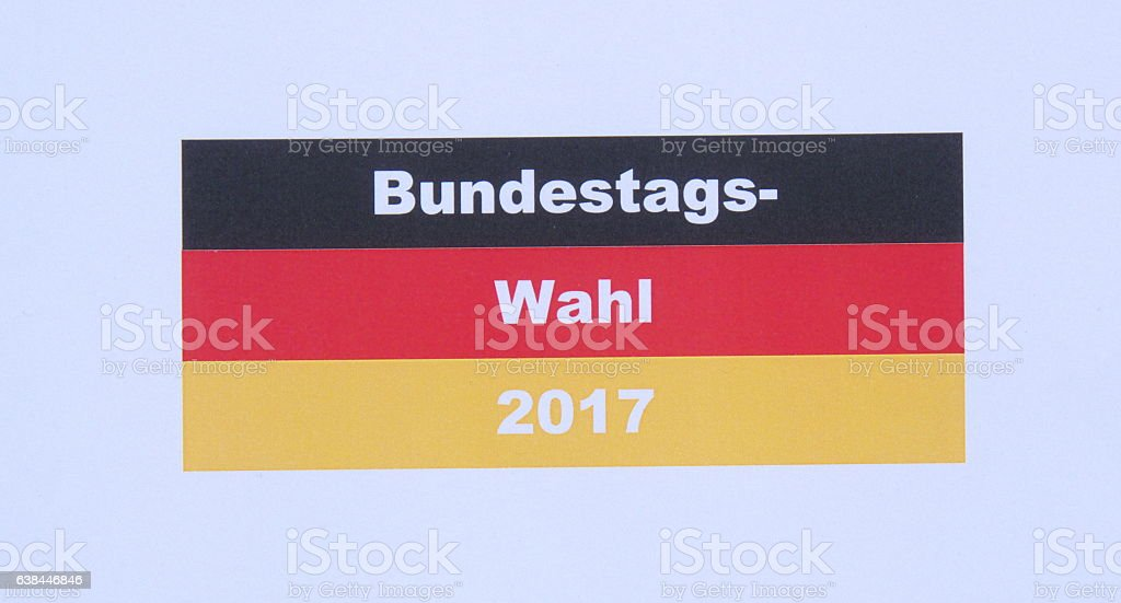 federal election of Germany stock photo