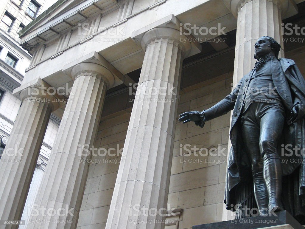 Federal Hall in New York stock photo