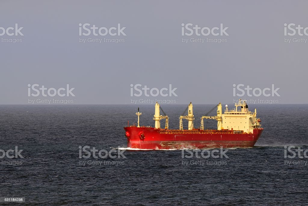Federal Hudson Bulk Carrier in North Sea stock photo
