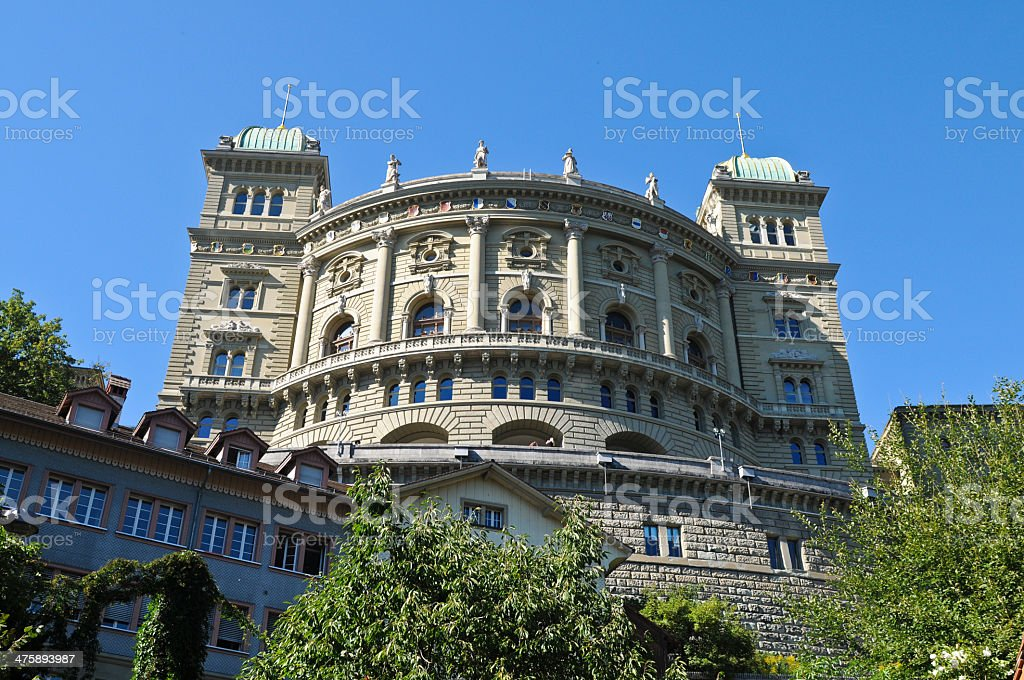 Federal Palace - Bern stock photo