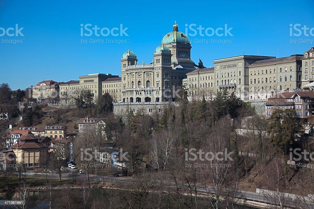 Bundeshaus in Bern royalty-free stock photo