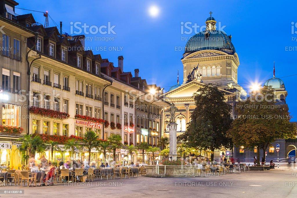 Federal Palace in Bern, Switzerland capital city. stock photo
