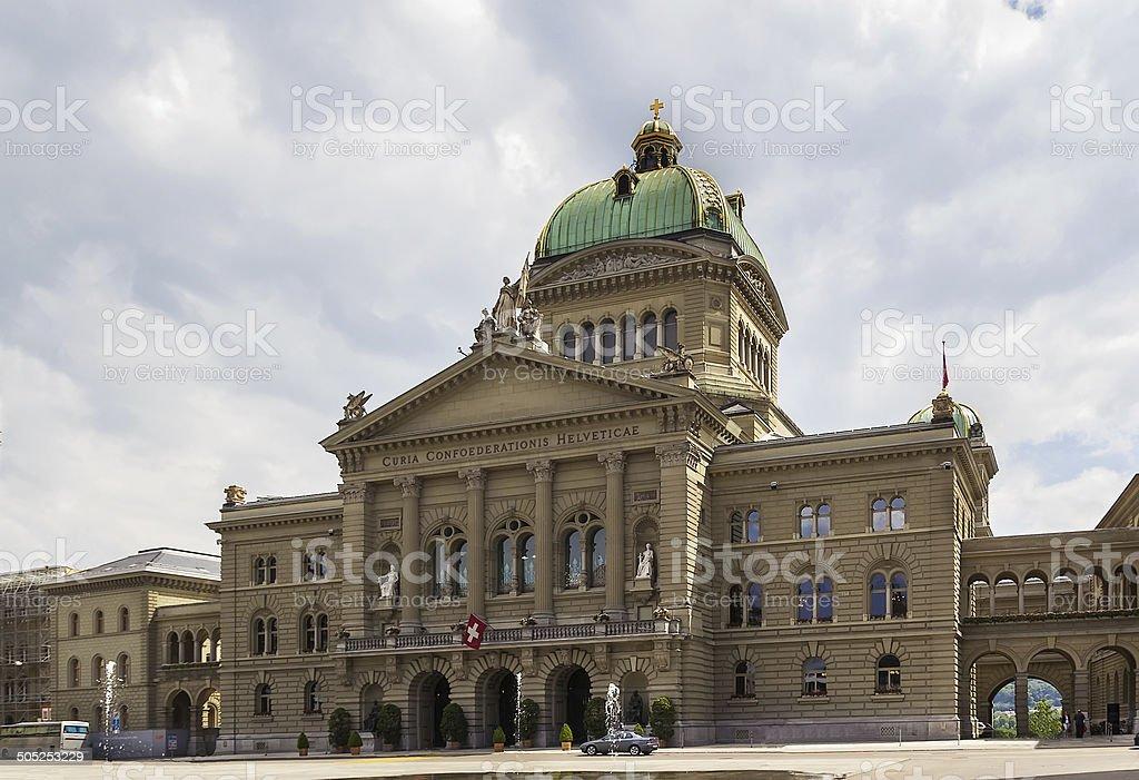 Federal Palace of Switzerland, Bern stock photo