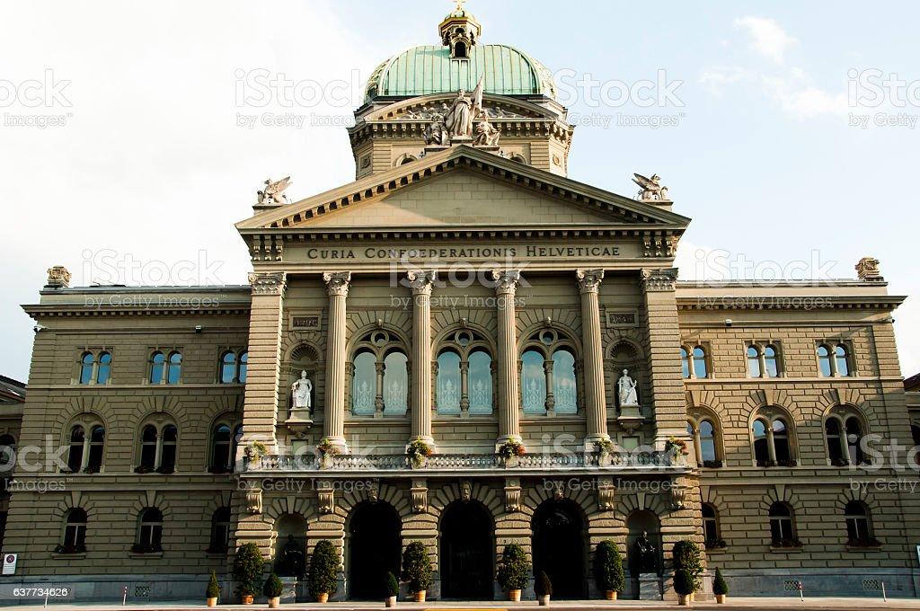 Federal Palace of Switzerland - Bern stock photo