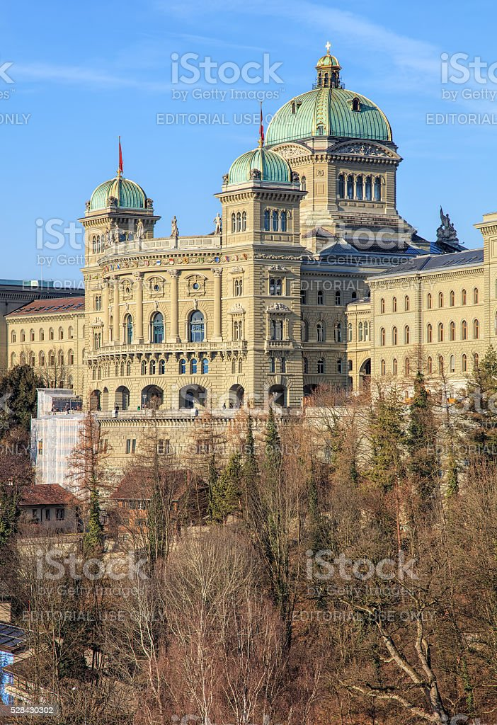 Federal Palace of Switzerland building stock photo