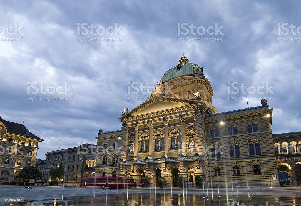 Federal Palace of Switzerland royalty-free stock photo
