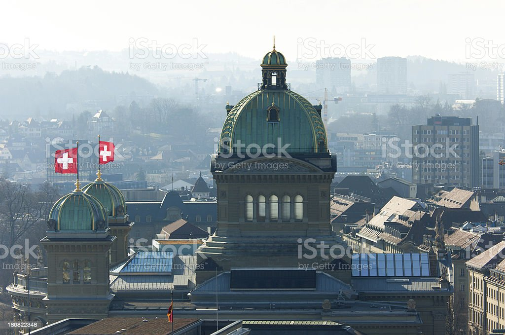 Federal Palace of Switzerland stock photo