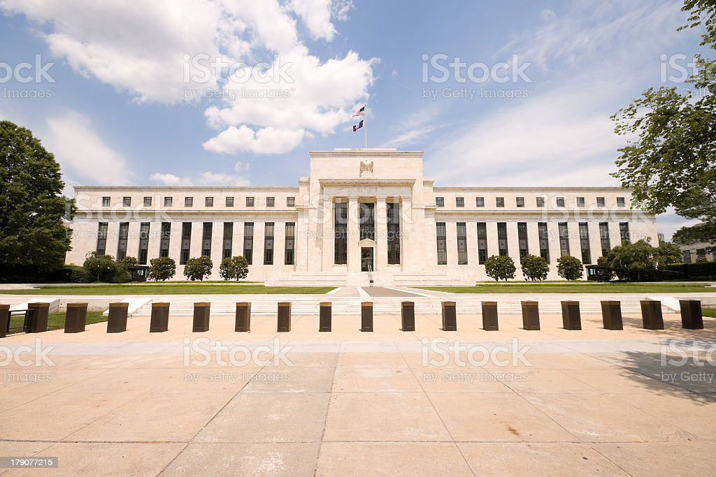 Federal Reserve Bank building in Washington DC, USA stock photo