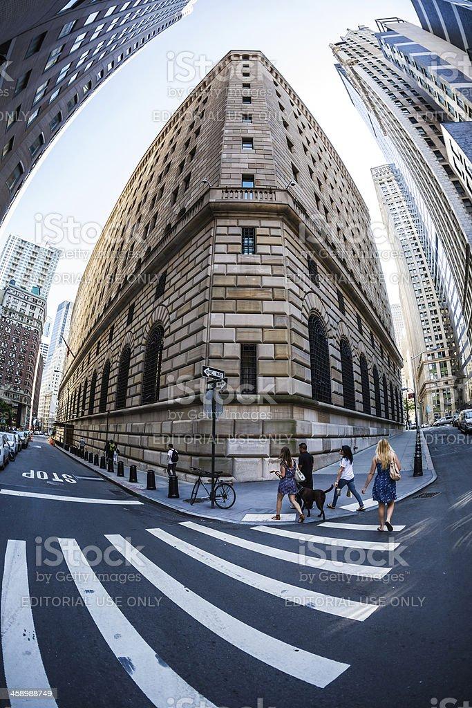Federal Reserve Bank of New York building, USA stock photo