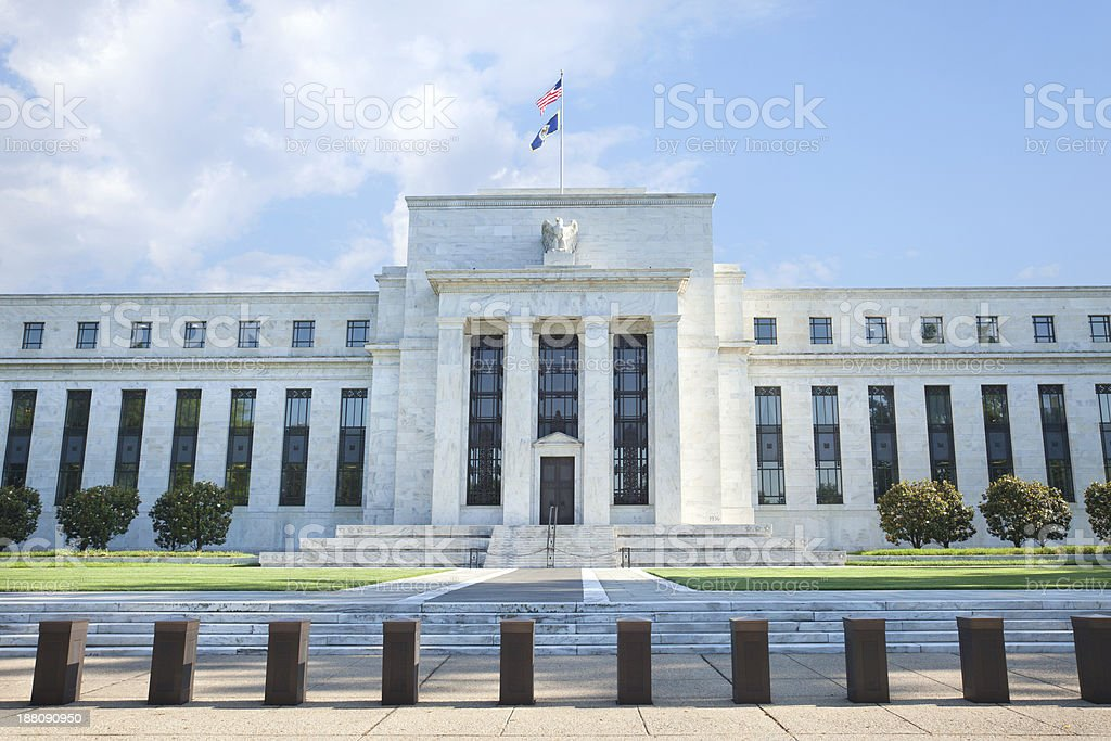 Federal Reserve building in Washington, DC stock photo