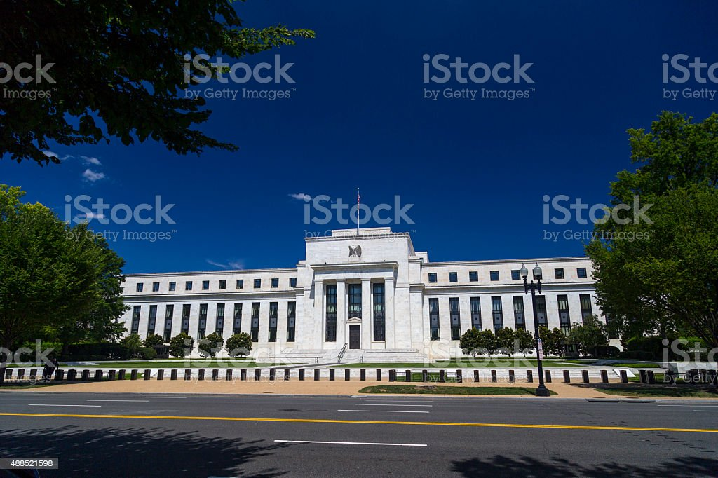 Federal Reserve Building in Washington DC stock photo