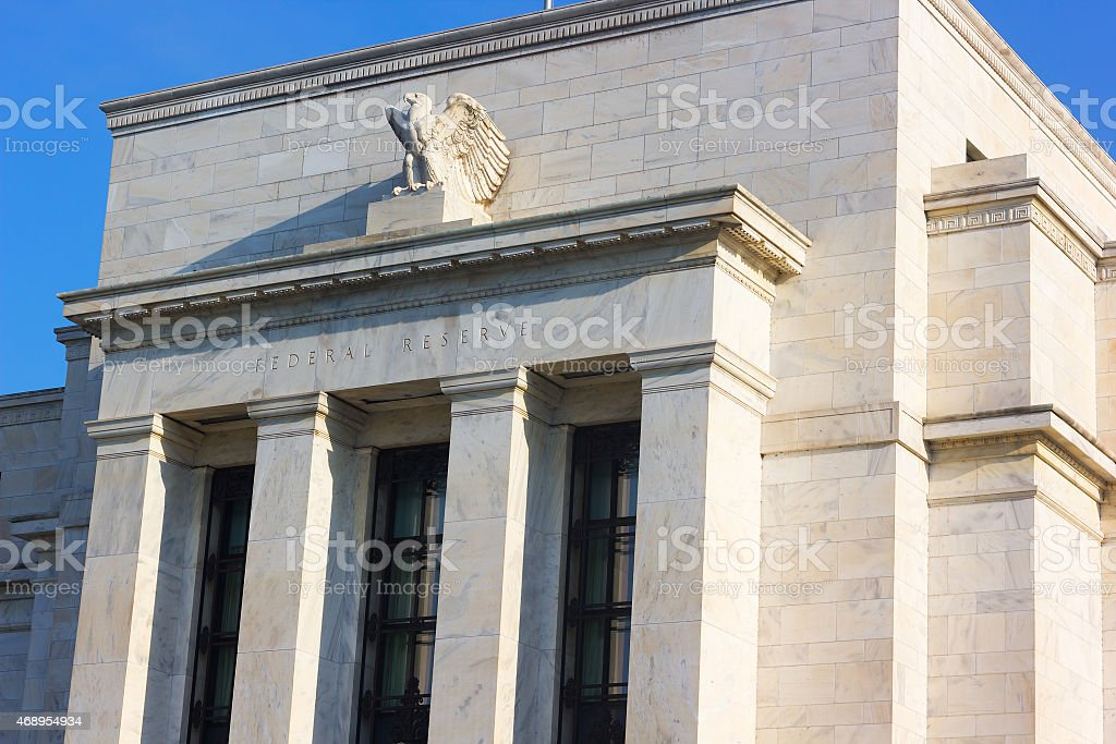Federal Reserve building in Washington DC, US. stock photo