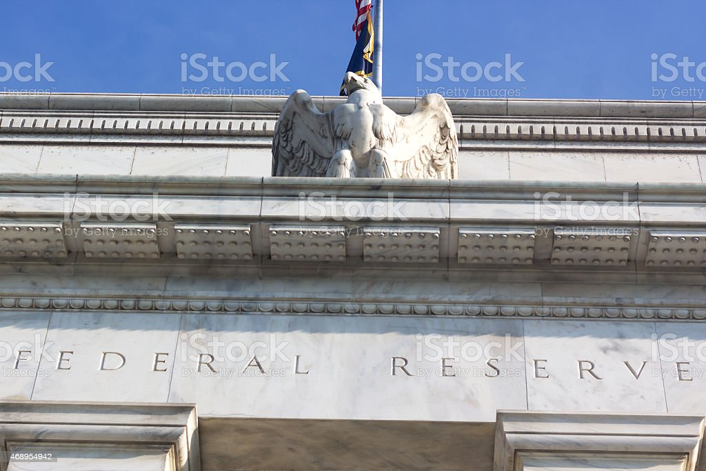 Federal Reserve building in Washington DC, USA stock photo
