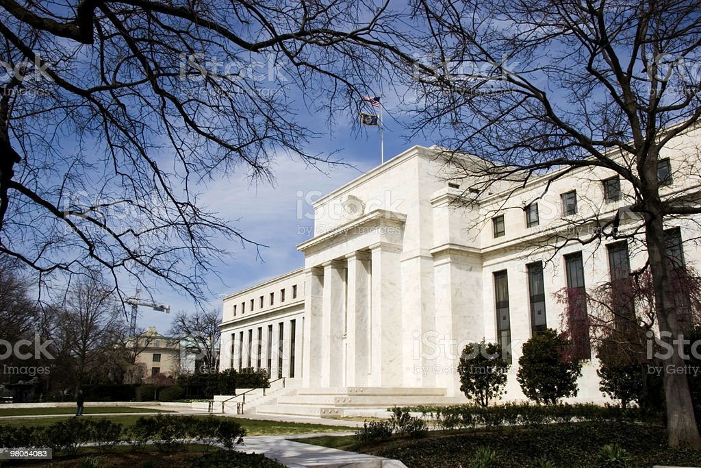 Federal Reserve Building on a sunny spring day stock photo