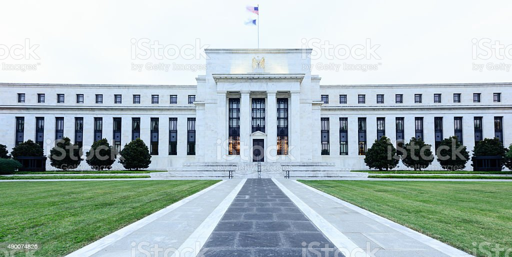 Federal Reserve Building stock photo