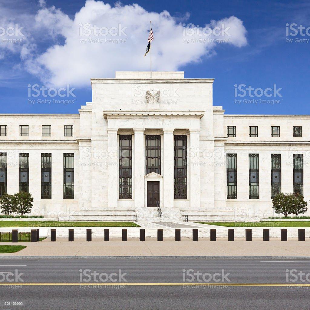 Federal Reserve Building, Washington DC, USA. stock photo