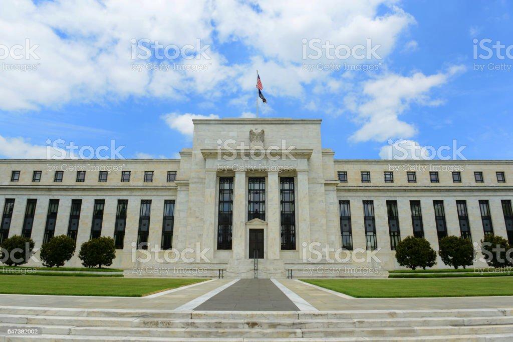 Federal Reserve Building, Washington DC, USA stock photo