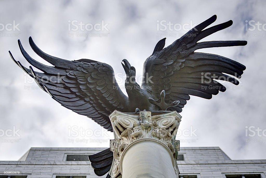 Federal Reserve Eagle in Atlanta, Georgia stock photo